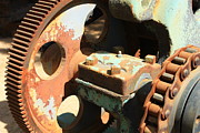 Machinery Photo Posters - Rusty Wheel Gear Poster by Carol Groenen