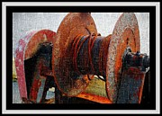 Rotate Prints - Rusty Winch  Print by Barbara Griffin