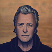 Heroes Painting Metal Prints - Rutger Hauer Metal Print by Paul  Meijering