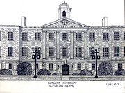 Historic Buildings Drawings Mixed Media - Rutgers University by Frederic Kohli