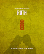 Old Mixed Media - Ruth Books of the Bible Series Old Testament Minimal Poster Art Number 8 by Design Turnpike