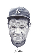 Mlb Painting Prints - Ruth Print by Tamir Barkan