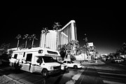 Recreational Vehicle Framed Prints - rv on the las vegas boulevard outside mandalay bay hotel and casino Las Vegas Nevada USA Framed Print by Joe Fox