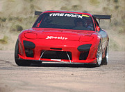 Mazda Prints - RX7 Race Car Digitally Enhanced Print by Ernie Echols