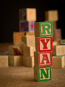 Alphabet Metal Prints - RYAN - Alphabet Blocks Metal Print by Edward Fielding