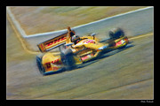 Indy Car Framed Prints - Ryan Hunter-Reay Framed Print by Blake Richards