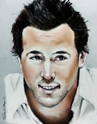 Actor Pastels Posters - Ryan Reynolds Poster by Bobby Boyer