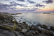 Seacoast Photo Posters - Rye Cliffs Poster by Eric Gendron