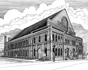 Ryman Auditorium In Nashville Tn Print by Janet King