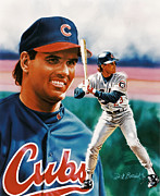 Chicago Cubs Paintings - Ryne Sandberg by Dick Bobnick