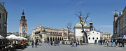 Krakow Prints - Rynek Glowny Krakow Print by Robert Lacy
