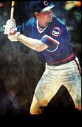 Baseball Art Mixed Media Posters - Ryno Poster by Michael Knight
