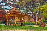 Dap Prints - Ryrie Park Rotunda Print by Fran Woods