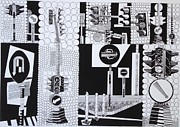 The Main Drawings - Rythm in black and white by Sahar Abdelaliem
