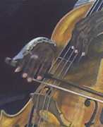 African American Drawings Originals - Rythm Tone The Strings by Arron Kirkwood