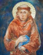 Religious Icons Paintings - S. Francesco di Assisi by Sue  Kemp