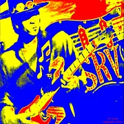 Music Legend Poster Prints - S R V Stevie Ray Vaghn Print by Larry E Lamb