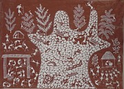 Indian Tribal Art Paintings - S Sm 03 by Sada Shiv Mashe
