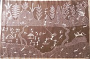 Indian Tribal Art Paintings - S Sm 04 by Sada Shiv Mashe
