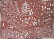 Indian Tribal Art Paintings - S Sm 05 by Sada Shiv Mashe