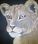 Hilton Mwakima Art - S tattled cub by Hilton Mwakima