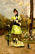 Woman In A Dress Prints - Sa Majeste La Parisienne Print by Alfred Stevens