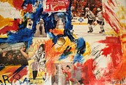 Patrick Mixed Media - Sabey Hawks collage by John Sabey Jr