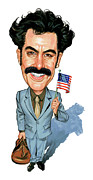 Sacha Baron Cohen Art - Sacha Baron Cohen as Borat Sagdiyev  by Art