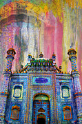 Historic Buildings Drawings Metal Prints - Sachal Sarmast Tomb Metal Print by Catf