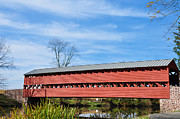 Covered Bridge Digital Art Metal Prints - Sachs Bridge Gettyburg Pa Metal Print by Bill Cannon