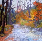Saco Prints - Saco Creek Print by Sharon E Allen