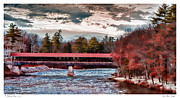 Saco Prints - Saco River Bridge Print by Richard Bean