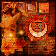 Mark Preston Metal Prints - Sacral Chakra Metal Print by Mark Preston