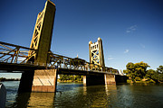 Sacramento Prints - Sacramento Tower Bridge Print by Cheryl Young