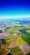 Sacramento Prints - Sacramento Valley Aerial View Print by Cheryl Young
