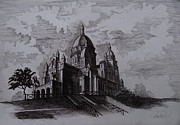 Europe Drawings Originals - Sacre Coeur by Arturas Patamsis