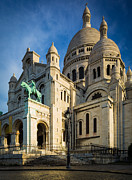 Sacre Coeur Photos - Sacre Coeur at Dawn by Inge Johnsson