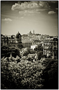 Sibylle Prints - Sacre Coeur Basilica as seen from Temple de la Sibylle. Print by Lenny Carter