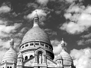 Grime Framed Prints - Sacre Coeur  Framed Print by Liz Bills