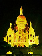 John Malone Art Work Art - Sacre-coure Cathedral Paris  by John Malone
