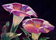 Datura Painting Prints - Sacred Daturas Print by Robert Hooper