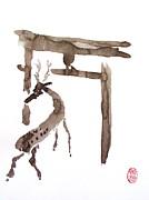 Roberto Prusso - Sacred Deer at Torii Gate