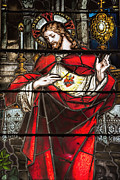 Sacred Metal Prints - Sacred Heart of Jesus Metal Print by Bonnie Barry