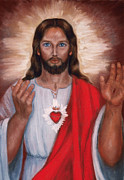 Sacred Pastels Metal Prints - Sacred Heart of Jesus Metal Print by Terry Sita