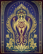 Visionary Art Prints - Sacred Mother - Global Goddess Series Print by Cristina McAllister