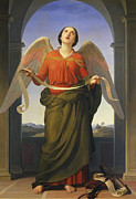 Heavenly Angels Paintings - Sacred Music by  Luigi Mussini