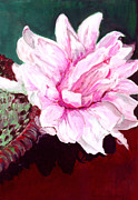 Lotus Leaves Paintings - Sacred Pink Lotus  by Mukta Gupta
