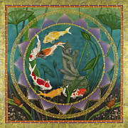 Tibetan Buddhism Paintings - Sacred Pond by Nadean OBrien