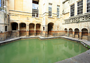 Roman Baths Framed Prints - Sacred Roman spring Framed Print by Paul Cowan