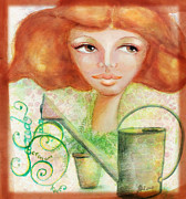 Redhead Mixed Media Framed Prints - Sacred Space Journal 5 Framed Print by Rosy Hall